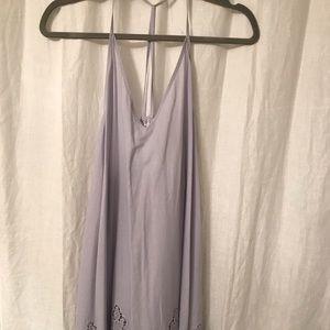 Free People Lavender Sheath Eyelet Dress
